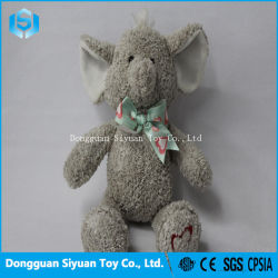 Regalo promocional suave Peluche de elefante de peluche juguete para niña con Bowknot