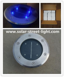 Round Solar LED 지하 벽돌 조명
