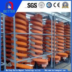 La norme ISO9001 6-8tph Capacité goulotte en spirale minérale pour le fer/TUNGSTEN/niobium/tantale/Gold/Charbon