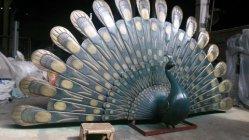 孔雀、屋外の庭の装飾の装飾的なブロンズ彫刻