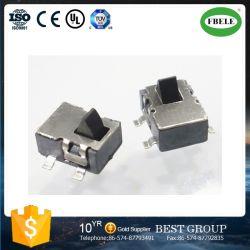 Commutateur de quatre pieds de tests de correctifs 3.7 * 3,7 mm CMS One-Way Reset/RoHS sur la touche de lumière