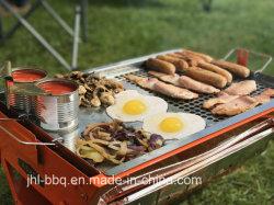 即刻BBQのグリルのスーツケースのグリルのRotesserie自動フレームおよびグリルモーターを搭載する携帯用折られた木炭グリルが付いているラップトップのグリルの庭のグリル