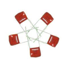 Condensator Cl21X van de Film van de Polyester van Topmay de Miniatuur Gemetalliseerde