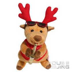 Elektrische Plüsch-Weihnachtsrotwild-Tierspielzeug mit Ton für Kinder