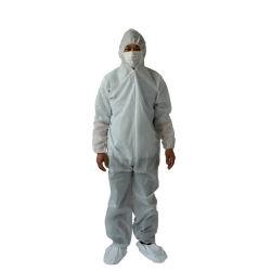 Одноразовые водонепроницаемый безопасности PP нетканого материала защитную одежду