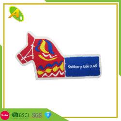 Comercio al por mayor Volver personalizado Velcro adhesivo militar grandes lentejuelas láser bordados etiqueta para la ropa (054)