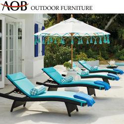 Exterior moderno Resort Beach Hotel Azul Salón muebles de rattan Silla de playa Tumbona tumbona con sombrilla