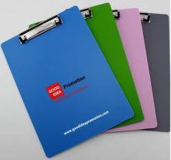 Fichier de clip en plastique de couleur, cadeau promotionnel PP fichier Clip
