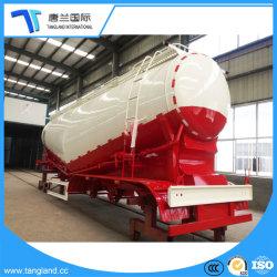 Matériau de poudre en acier au carbone du réservoir/citerne semi-remorque de transport/de cendres et de minéraux Ciment
