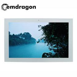 شاشة عريضة أفقية معلقة على الحائط مزودة بمكيف هواء شاشة إعلان خارجية 65 بوصة عالية الدقة شاشة عرض LCD ذات جالس ترويجية شاشة لمس إعلان