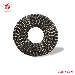 zaag van de Draad van de Diamant van 11.5mm de Rubber Gesinterde voor het Knipsel van de Steen