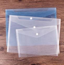A4 Transparente Borrar carpeta de documentos de archivo personalizado para la promoción
