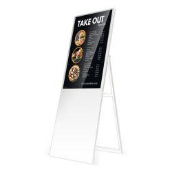 공장 43인치 LCD 빌보드 스탠드 플로어 LCD 광고 화면 슈퍼마켓용 고휘도 LCD 광고 패널