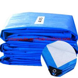 PEの防水シートまたはテント材料または防水シートの/HDPE防水屋外のプラスチックカバーまたは青い多ファブリック