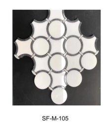 Wasserstrahl Weiß Schwarz Mosaik SF-M-105 Fliesen für Innenraumdecke