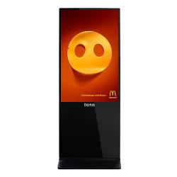 China Banheira de 43 polegada vertical de Chão quiosque de tela de toque LCD independente interior 4K 3D Digital Signage da Exibição de Publicidade