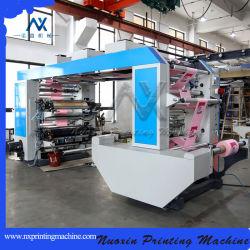 Máquina de impressão flexível de 4 cores/plástico/LDPE/BOPP/impressora de filme/Filme Plástico Flexo Máquina Letterpress