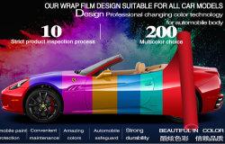 자동차 무광택 카멜레온 색상 변경 카 랩 비닐 필름 장식 호일