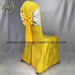 Cher Président en polyester jaune couvrir pour mariage (hm-Y2).