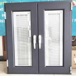 建物Material House Used Price Hurricane Impact Aluminium Double Glazed Tempered Glass Casement Doors Windows広州Aluminum Alloy TiltおよびTurn Window