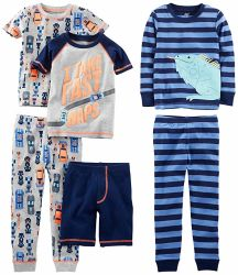 Form-Druck-Baumwollpyjama-lange Hülsenette Sleepwear-Baby-Kleidung 100%