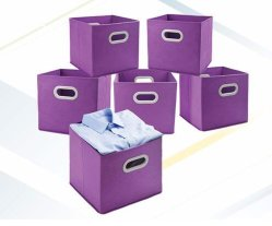 Druableファブリック世帯の記憶の解決の製品の立方体ボックスオルガナイザー