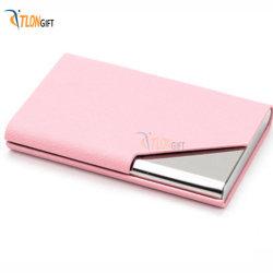 Розовый из нержавеющей стали и девочка Business Card окно пластиковый пакет