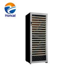 frigorifero triplice del dispositivo di raffreddamento del vino rosso di magazzinaggio commerciale di zona di 785L 345bottles con energia elettrica