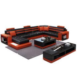 Lavável em estilo europeu moderno Sala Sofá Definir estrutura grossista de Fábrica, Sofá transversal em forma de U
