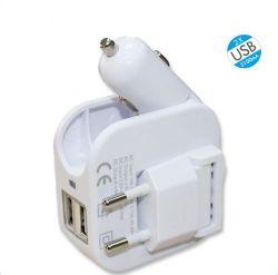 Multifunktions-USB-Auto-Aufladeeinheit mit Arbeitsweg-Aufladeeinheits-Adapter
