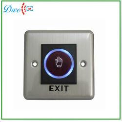 Pour l'accès système de contrôle n° Touch infrarouge sans contact de sortie du capteur de bouton de déverrouillage de porte avec indication par LED de commutateur