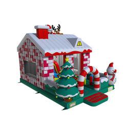 新しいデザイン跳躍の城のクリスマスのサンタの膨脹可能な警備員のサンタの警備員