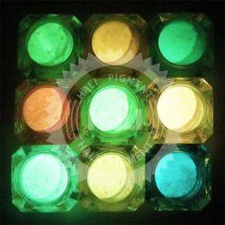 12couleurs La couleur des cheveux Poudre lumineuse, Gel glitter ongle photoluminescente polonais, de pigment fluorescent bougies en pigment foncé 1000g/couleur