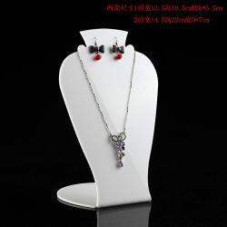 Establecer el modelo de cuello de joyas de acrílico soporte maniqui