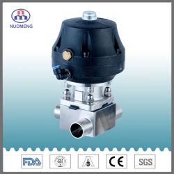 위생 스테인리스 SS304/SS316L 압축 공기를 넣은 액추에이터 티에 의하여 용접되는 격막 벨브