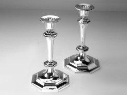 Комплект пар держателя для свечи стерлингового серебра сбор винограда