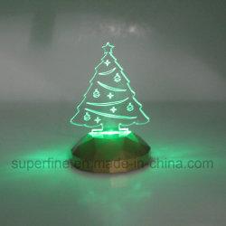 Coffre-fort à l'aide de gros de l'anniversaire multicolore alimenté par batterie élégant de l'acrylique Arbre de Noël cadeau lumineux à LED