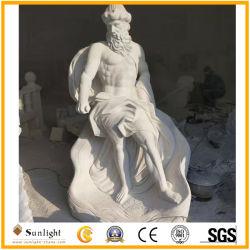 Естественный белый/красочные мраморный камень религиозных Figure Carving для фонтанов скульптуры и оформление для установки вне помещений