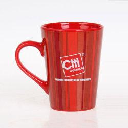 Commerce de gros V de la promotion de la céramique en forme de tasse tasse en porcelaine avec poignée colorée