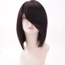 Populair Fashion Bob Style Straight Full Lace Menselijk Haar Haar Wig Remy Hair
