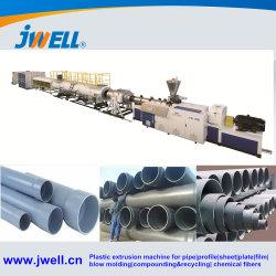 El plástico PVC/PE/PP/PPR/LDPE de aguas residuales de la presión de agua/& conducto eléctrico /Tubo//Perfil de la ventana/Hoja de extrusión de tubo de decisiones de la extrusora/& bobinado) Máquina de extrusión