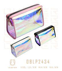 Mesdames nouveau Mini Fashion Sac de maquillage cosmétiques PVC personnalisé PU Sac Sac cosmétique Wash Bag Sac cadeau un sac de shopping