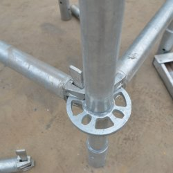 التشييد نظام قفل حلقة السقالات الفولاذية