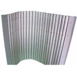 Cortina de protecção de alumínio personalizáveis para protecção das Guias da Máquina