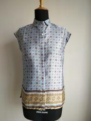 Het Satijn van de vrouw helemaal over Sleeveless Overhemd van de Blouse van Af:drukken