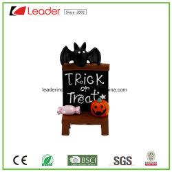 Вручную Polyresin кресло с декоративной тыквы Bat На Хэллоуин украшения