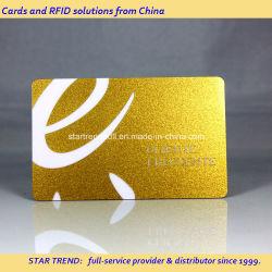 VIP メンバーシップ用のメタリックゴールドプリント PVC 磁気ストライプカード