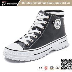 Populares Damas calzado zapatos de mujer PU Superior alto zapatos casual Zapatos de skate zapatillas 0803-6