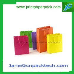 Роскошный подарок из вторсырья мешок для упаковки, печать логотипа Магазины / перевозчика складные мешок для упаковки, моды крафт-бумаги для подушек безопасности / чай / обувь / одежда