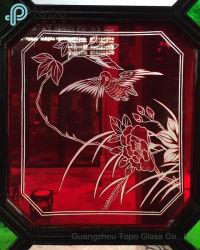 Flor clássico estilo chinês para a arte de vidro float decoração (S-MW)